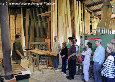 Visite à la manufacture d'orgues Fügliste