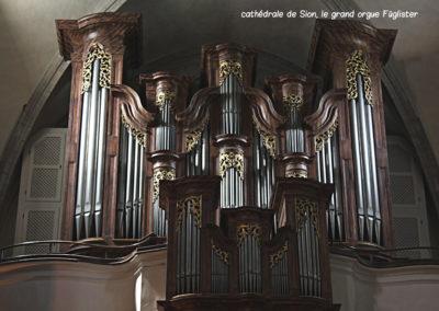 Cathédrale de Sion, le grand orgue Füglister