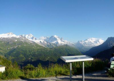 Massif du Mont-Blanc vu du barrage d'Emosson